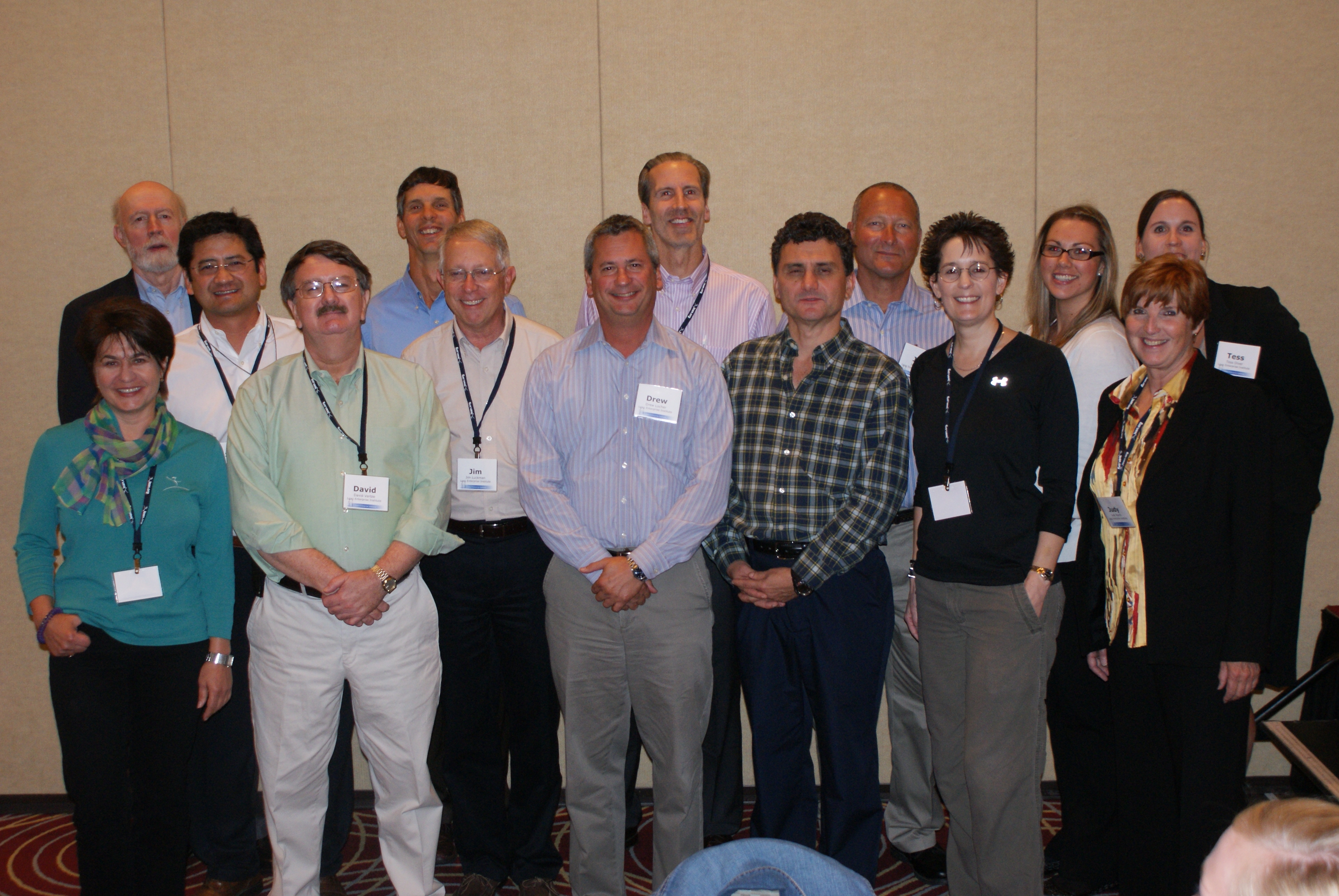 With fellow LEI faculty members and staff, along with Jim Womack founder of LEI.