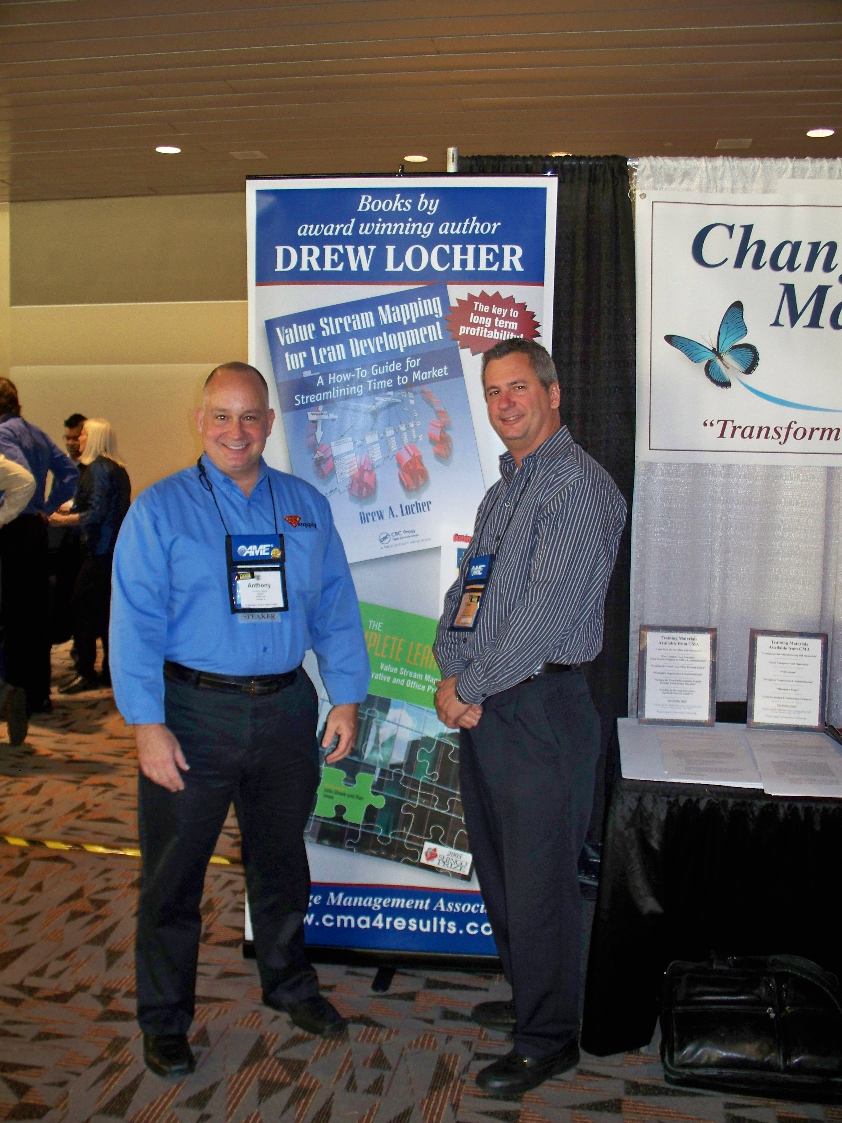 With Tony Manos of 5S Supply.com at the CMA booth in 2010