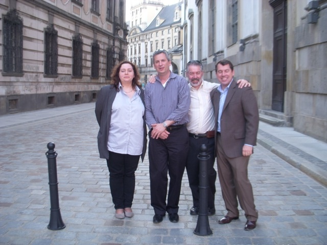 Touring Wroclaw Poland with (from left) Malgorzaty Jakubik of LEI Polska, author Mike Orzen, and James Franz of the Toyota Way Academy